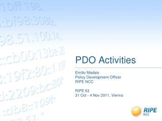 PDO Activities