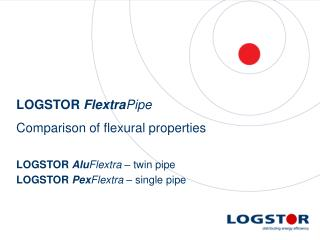 LOGSTOR  Flextra Pipe Comparison of flexural properties