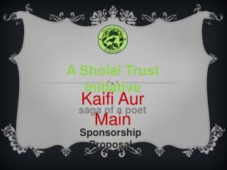 A Sholai Trust Initiative