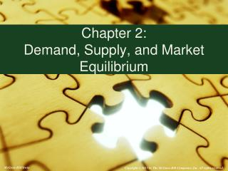 Chapter 2:   Demand, Supply, and Market Equilibrium