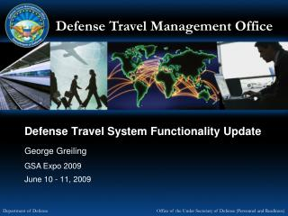 Defense Travel System Functionality Update
