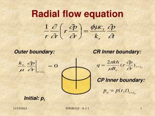 Radial flow equation