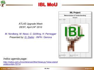 IBL MoU