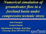 Numerical simulation of groundwater flow in a foreland basin under compressive tectonic stress