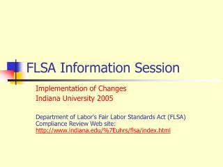 FLSA Information Session