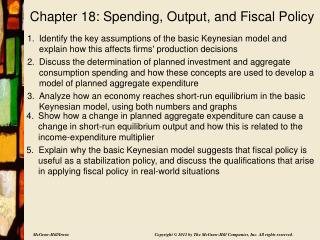 Chapter 18: Spending, Output, and Fiscal Policy