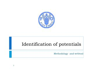 Identification of potentials