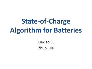 State-of-Charge Algorithm for Batteries