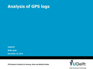 Analysis of GPS logs