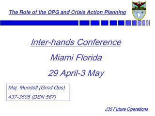 Inter-hands Conference Miami Florida 29 April-3 May
