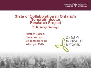 State of Collaboration in Ontario's Nonprofit Sector  Research Project Preliminary Findings