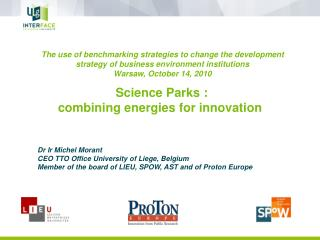 Science Parks : combining energies for innovation