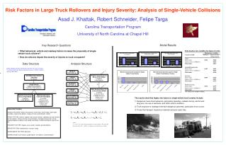 Risk Factors in Large Truck Rollovers and Injury Severity: Analysis of Single-Vehicle Collisions