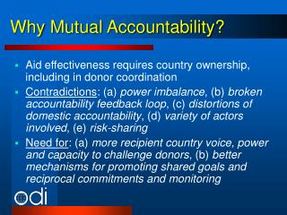 Why Mutual Accountability?