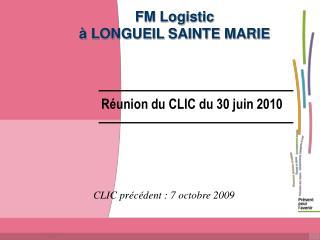 FM Logistic à LONGUEIL SAINTE MARIE