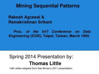 Spring 2014 Presentation by:  Thomas Little