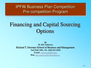 IPFW Business Plan Competition Pre-competition Program