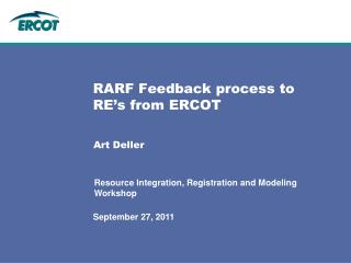 RARF Feedback process to RE's from ERCOT