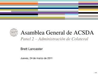 Asamblea General de ACSDA