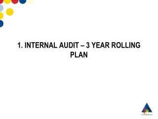1. INTERNAL AUDIT – 3 YEAR ROLLING PLAN