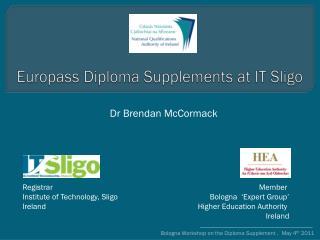 Europass  Diploma Supplements at IT Sligo