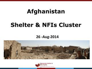Afghanistan Shelter & NFIs Cluster
