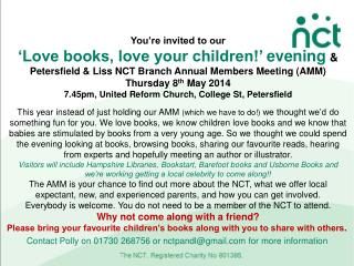 You're invited to  our 'Love books, love your children!'  evening &