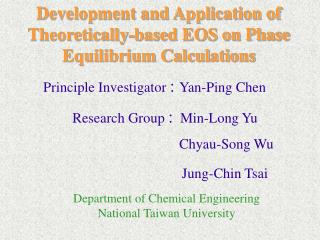 Department of Chemical Engineering  National Taiwan University