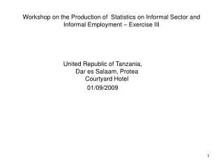 United Republic of Tanzania, Dar es Salaam, Protea Courtyard Hotel  01/09/2009
