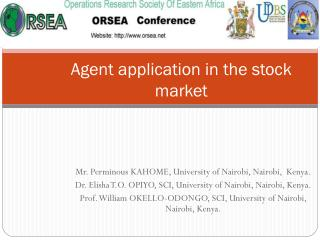 Agent application in the stock market