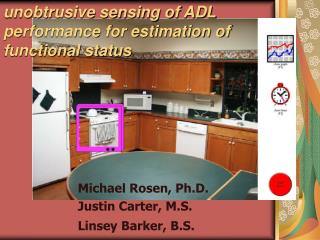 unobtrusive sensing of ADL performance for estimation of functional status