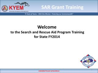 SAR Grant Training