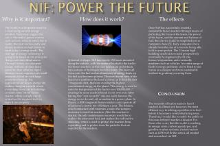 NIF: Power the Future