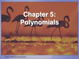 Chapter 5:  Polynomials