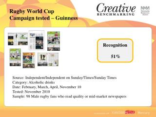 Rugby World Cup  Campaign tested   Guinness