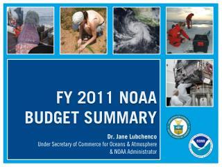 FY 2011 NOAA  BUDGET SUMMARY