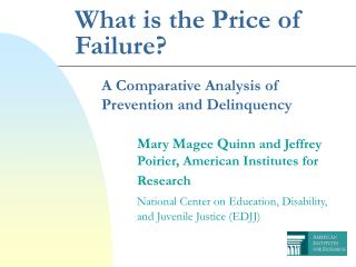 What is the Price of Failure?