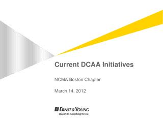 Current DCAA Initiatives