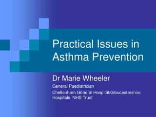 Practical Issues in Asthma Prevention