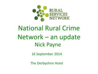 National Rural Crime Network – an update