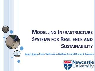 Modelling Infrastructure Systems for Resilience and Sustainability
