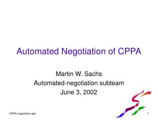 Automated Negotiation of CPPA