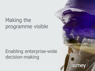 Making  the programme  visible Enabling enterprise-wide decision-making