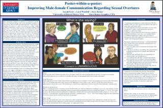 Poster-within-a-poster:  Improving  M ale-female  C ommunication  R egarding  S exual  O vertures
