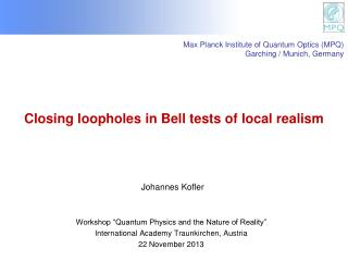 Closing loopholes in Bell tests of  local  realism