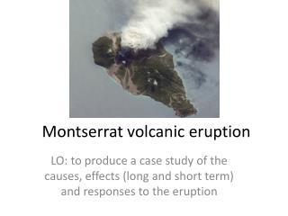 Montserrat volcanic eruption