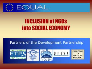 INCLUSION of NGOs  into SOCIAL ECONOMY