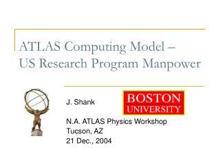 ATLAS Computing Model – US Research Program Manpower
