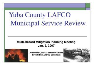 Yuba County LAFCO  Municipal Service Review