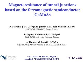 Magnetoresistance of tunnel junctions based on the ferromagnetic semiconductor GaMnAs
